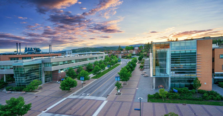 okanagan, campus, aerial, university way