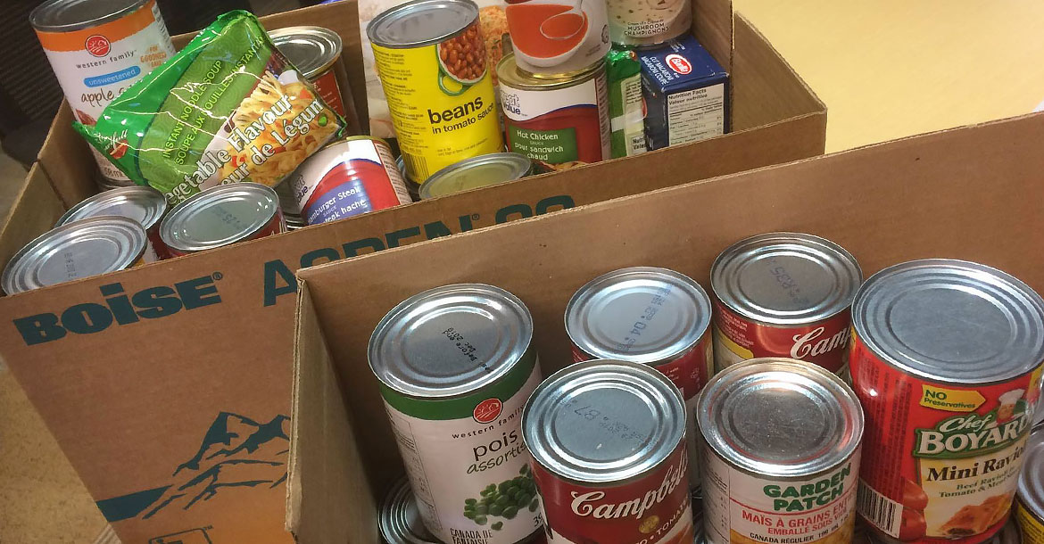 food, cans, donation, exchange