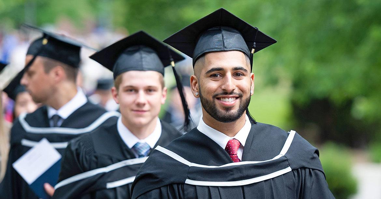 graduation, student, cap, gown