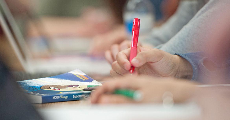 pen, paper, notes, grades, classroom