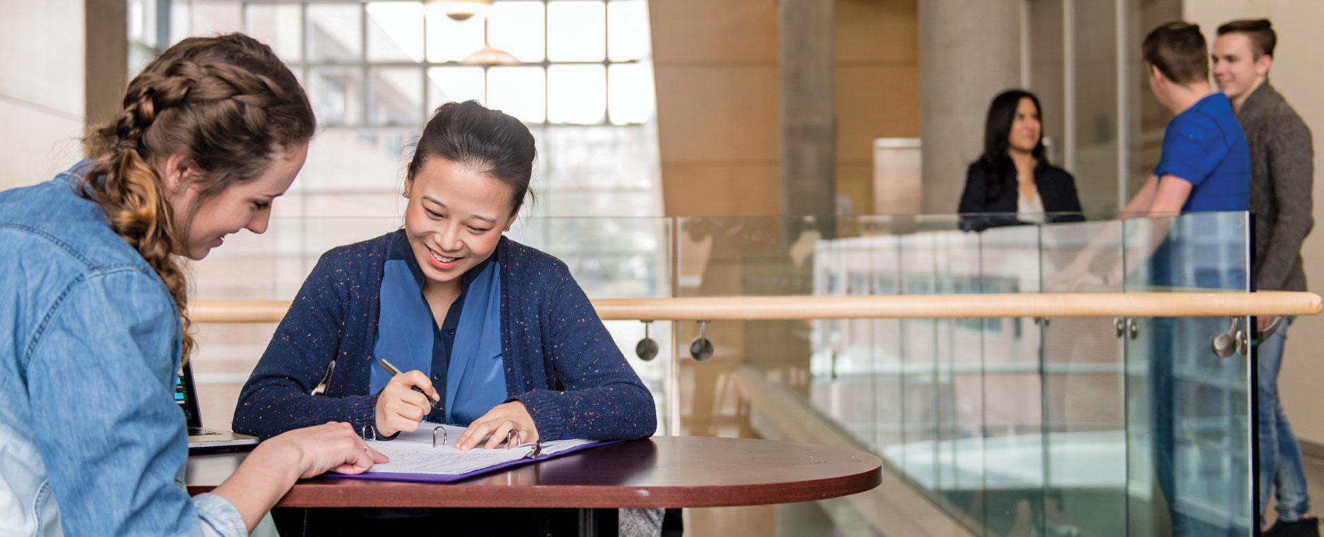 talking between students, career, advise