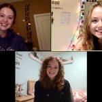 Three friends meeting on Zoom
