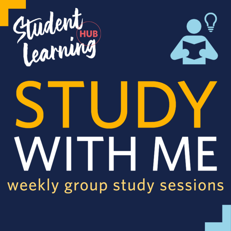 Study with Me: weekly group study sessions